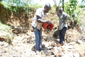 The Water Project: Khaunga A Community, Murutu Spring -  Layer Of Aggregiate