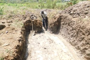 The Water Project: Mwitwa Community, Matiang'i Spring -  Construction Of The Escape Channels