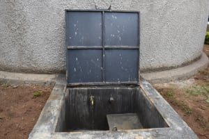 The Water Project: Gimarakwa Primary School -  Water Flows From The Rain Tank