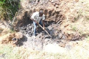 The Water Project: Khaunga A Community, Murutu Spring -  Excavation