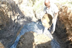 The Water Project: Khaunga A Community, Murutu Spring -  Laying The Foundation