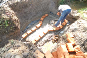 The Water Project: Mwitwa Community, Matiang'i Spring -  Brickwork Begins