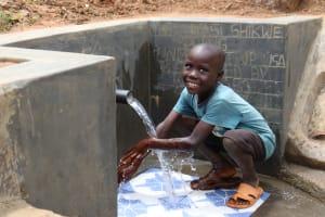 The Water Project: Wepika Community, Musa Mmasi Shikwe Spring -  Celebrating The Spring