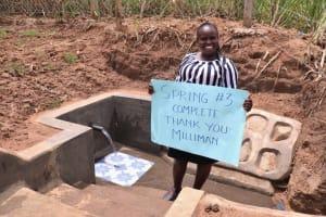 The Water Project: Wepika Community, Musa Mmasi Shikwe Spring -  Director Catherine Chepkemoi Expresses Her Thanks