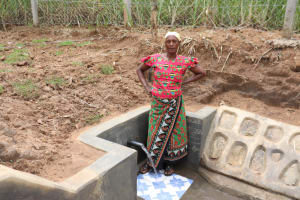 The Water Project: Wepika Community, Musa Mmasi Shikwe Spring -  Posing At The Water Point