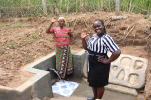 The Water Project: Wepika Community, Musa Mmasi Shikwe Spring -  Posing With Director Catherine Chepkemoi