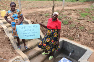 The Water Project: Wepika Community, Musa Mmasi Shikwe Spring -  Women Excited About The New Water Point