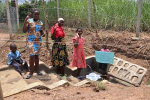 The Water Project: Wepika Community, Musa Mmasi Shikwe Spring -  Community Members Express Their Gratitude