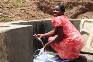 The Water Project: Wepika Community, Musa Mmasi Shikwe Spring -  Posing At The Spring