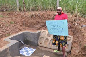 The Water Project: Wepika Community, Musa Mmasi Shikwe Spring -  Thank You