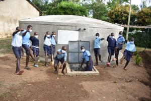 The Water Project: Isango Primary School -  With Clean Water We Can Kick Corona Out Of Kenya