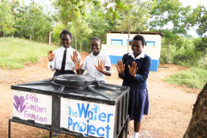 The Water Project: Kimuuni Secondary School -  Clean Hands