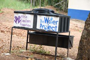 The Water Project: Kimuuni Secondary School -  Handwashing Station