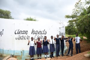 The Water Project: Kimuuni Secondary School -  Students At The Tank
