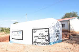 The Water Project: Kamuwongo Primary School -  Painted Tank