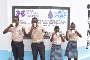 The Water Project: St. Paul Waita Secondary School -  Drinking Water From The Tank