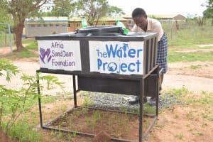 The Water Project: St. Paul Waita Secondary School -  Handwashing Station