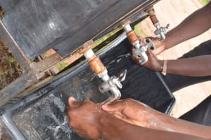 The Water Project: St. Paul Waita Secondary School -  Washing Hands