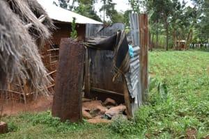 The Water Project: Nangurunya Community, Robert Musali Spring -  Bathing Shelther