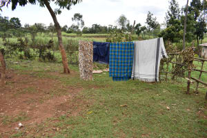 The Water Project: Nangurunya Community, Robert Musali Spring -  Clothesline