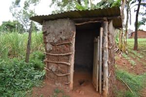 The Water Project: Nangurunya Community, Robert Musali Spring -  Outside A Pit Latrine