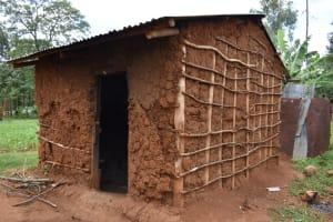 The Water Project: Nangurunya Community, Robert Musali Spring -  Outside The Kitchen