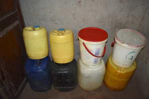 The Water Project: Nangurunya Community, Robert Musali Spring -  Water Storage Containers