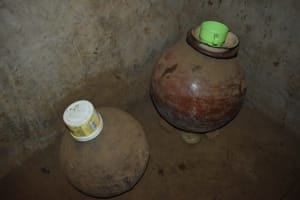 The Water Project: Nangurunya Community, Robert Musali Spring -  Clay Pots Used For Storing Drinking Water With Covers And Cups