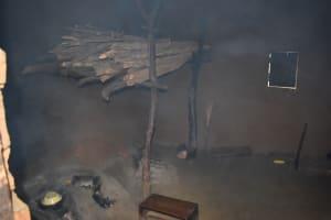 The Water Project: Nangurunya Community, Robert Musali Spring -  Storing Firewood Above Fireplace