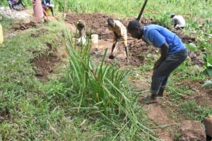 The Water Project: Shamoni Community, Shatuma Spring -  Site Clearance
