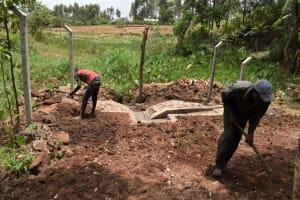 The Water Project: Shamoni Community, Shatuma Spring -  Ground Leveling