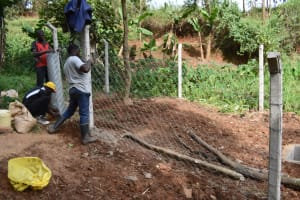 The Water Project: Shamoni Community, Shatuma Spring -  Fencing