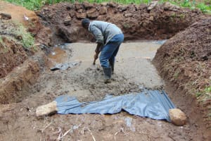 The Water Project: Shamoni Community, Shatuma Spring -  Slab Casting