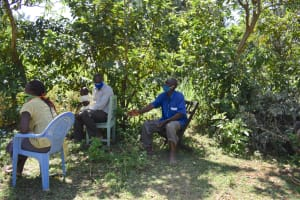 The Water Project: Shamoni Community, Shatuma Spring -  A Community Member Asking For Clarification