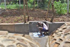 The Water Project: Shamoni Community, Shatuma Spring -  People Celebrating At The Water Point