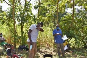 The Water Project: Shamoni Community, Shatuma Spring -  Training On Covid Prevention