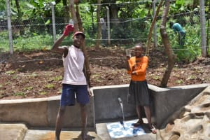 The Water Project: Shamoni Community, Shatuma Spring -  Cheers To Clean Water