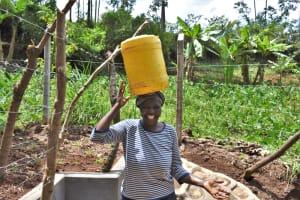 The Water Project: Shamoni Community, Shatuma Spring -  Happy Leaving The Spring