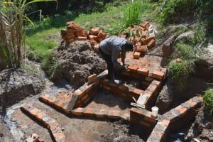 The Water Project: Bukhakunga Community, Maikuva Spring -  Stairs Construction