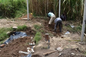 The Water Project: Bukhakunga Community, Maikuva Spring -  Backfilling With Soil