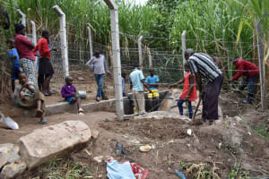 The Water Project: Bukhakunga Community, Maikuva Spring -  Final Site Clearence