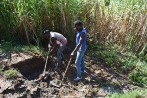 The Water Project: Bukhakunga Community, Maikuva Spring -  Excavation Process