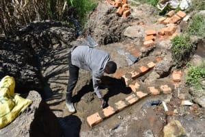 The Water Project: Bukhakunga Community, Maikuva Spring -  Brick Setting