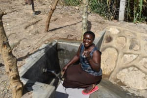 The Water Project: Bukhakunga Community, Maikuva Spring -  Agnes At The Water Point