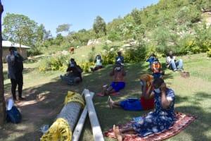 The Water Project: Bukhakunga Community, Maikuva Spring -  Covid Precautions Sensitization