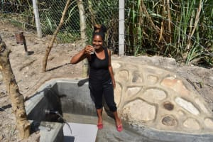 The Water Project: Bukhakunga Community, Maikuva Spring -  Drinking Water At The Spring Site