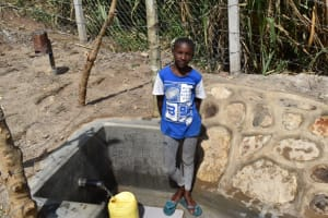 The Water Project: Bukhakunga Community, Maikuva Spring -  Fetching Water At The Spring