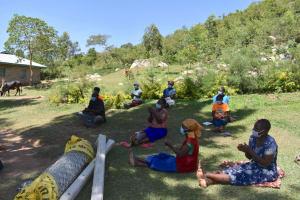 The Water Project: Bukhakunga Community, Maikuva Spring -  Handwashing Demonstration