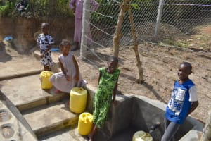 The Water Project: Bukhakunga Community, Maikuva Spring -  Happy Kids At The Spring