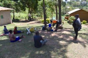 The Water Project: Bukhakunga Community, Maikuva Spring -  Participant Demonstrating Handwashing